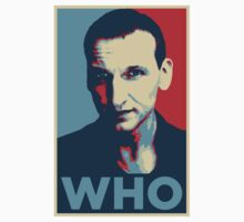 Doctor Who Chris Eccleston Barack Obama Hope style poster by unloveablesteve