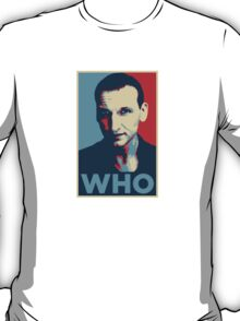 Doctor Who Chris Eccleston Barack Obama Hope style poster T-Shirt