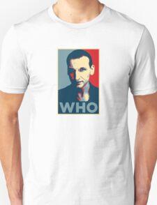 Doctor Who Chris Eccleston Barack Obama Hope style poster T-Shirt