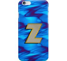 Monogram Z personalized gift for him iPhone Case/Skin