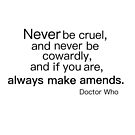 Never be Cruel by ginamitch