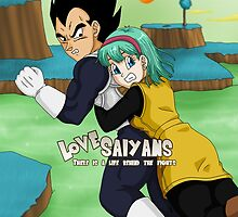 Vegeta and Bulma Namek by MayaBriefs
