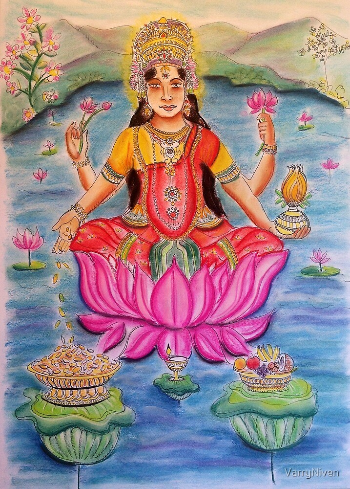 Goddess Lakshmi-goddess of wealth by VarryNiven