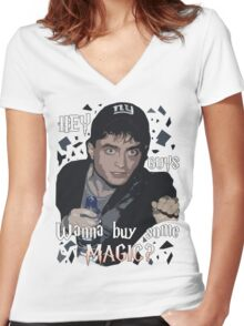 Wanna Buy Some Magic? Women's Fitted V-Neck T-Shirt