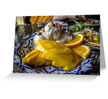 Mangos and Sticky Rice Greeting Card