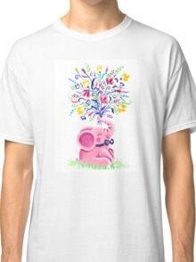 Spring Bouquet - Rondy the Elephant holding beautiful flowers Classic T-Shirt