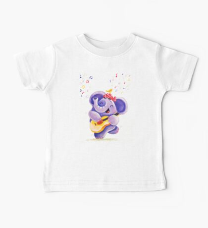 Playing Guitar - Rondy the Elephant musician Baby Tee