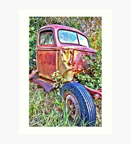 HDR Rusty old Ford Art Print