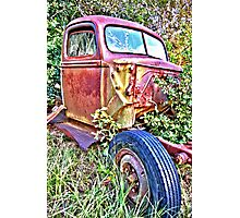 HDR Rusty old Ford Photographic Print
