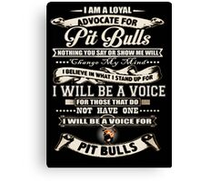 pit bull animal pet dog advocate adopt Canvas Print