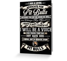 pit bull animal pet dog advocate adopt Greeting Card