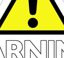 Warning! contents under pressure... do not shake Sticker