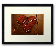 Love Hurts - Heart and Thorns Framed Print