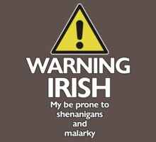 Warning Irish prone to shenanigans and malarky Kids Clothes