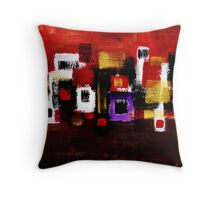 Navaho Village and Sun Throw Pillow
