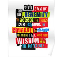 Serenity Prayer Original Graphic design Poster
