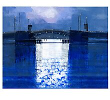 dawn bridge Photographic Print