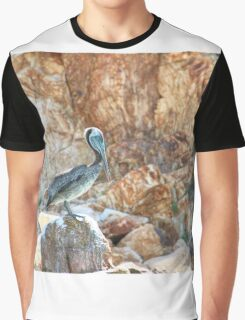 Lonely wild brown pelican HDR Graphic T-Shirt