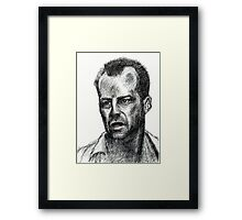 Bruce Willis In Die Hard  Framed Print