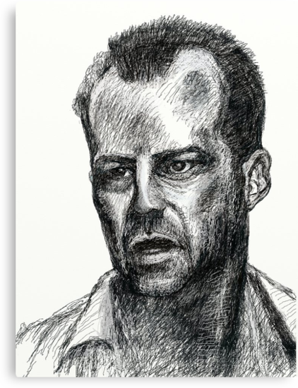 Bruce Willis In Die Hard  by david michael  schmidt