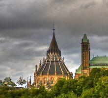 The parliament in Ottawa HDR by Eti Reid