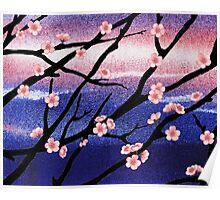 Cherry Blossoms Decorative Painting Poster