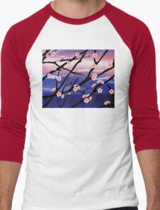 Cherry Blossoms Decorative Painting Men's Baseball ¾ T-Shirt