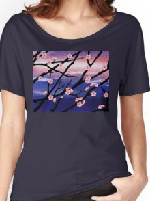Cherry Blossoms Decorative Painting Women's Relaxed Fit T-Shirt