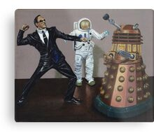 A Matrix of Daleks Metal Print