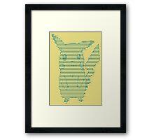 Pikascii Framed Print