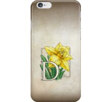 D is for Daffodil - full image iPhone Case/Skin