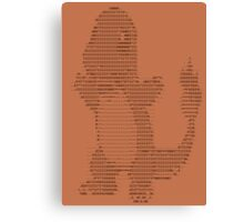 Charmandascii Canvas Print