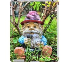 Funny garden gnome HDR iPad Case/Skin