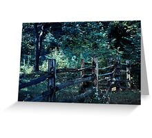 Forest Post Greeting Card