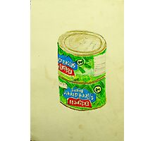 sliced green beans Photographic Print