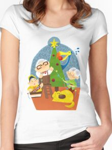 A very up christmas Women's Fitted Scoop T-Shirt