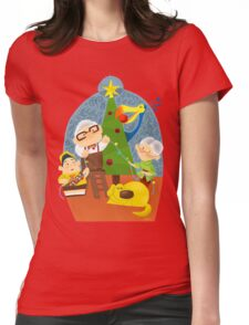 A very up christmas Womens Fitted T-Shirt