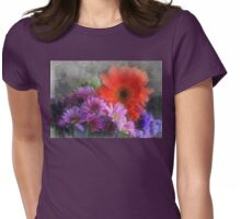 In The Garden, Pretty Flowers Grow Womens Fitted T-Shirt