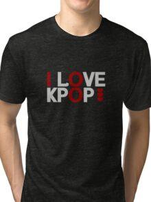 I Love Kpop - White Tri-blend T-Shirt