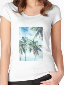 Palm Trees 2 Women's Fitted Scoop T-Shirt