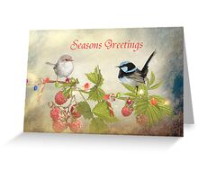 A Little Birdy Told Me .... Christmas Is On Its Way Greeting Card