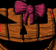 Happy Halloween Pink Bow Sticker