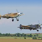 Friend And Foe Take Off - Duxford Flying Legends 2013 by Colin J Williams Photography