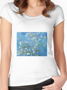 Vintage Vincent Van Gogh Almond Blossoms Women's Fitted Scoop T-Shirt