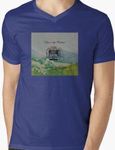 Travel Photo Motto Mens V-Neck T-Shirt