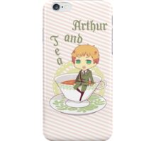 Chibi Arthur & Tea [Hetalia] iPhone Case/Skin