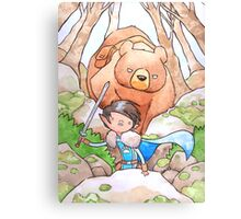 A Boy and his Bear Canvas Print