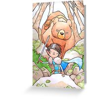 A Boy and his Bear Greeting Card