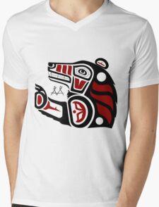 Kaskitew Maskwa (Black Bear) Mens V-Neck T-Shirt