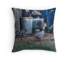 Guinea Fowl And Friends Throw Pillow